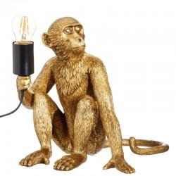 Monkey Lamp oro Scimmia seduta