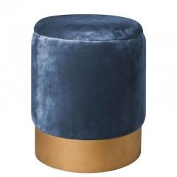 Pouf Contenitore Velluto Blu