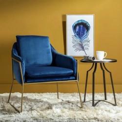 Poltrona '50 Velluto Blu